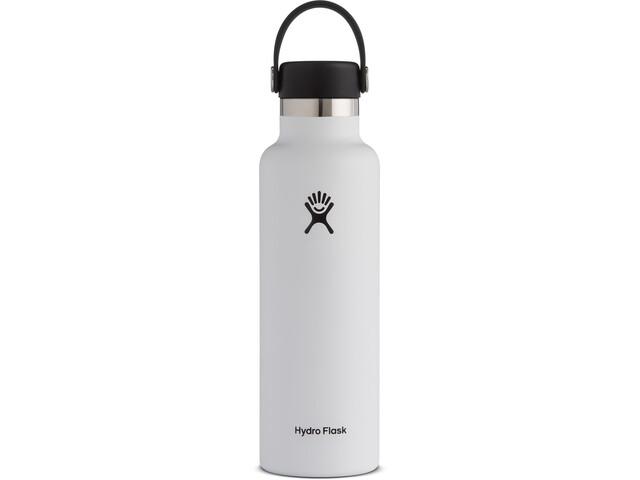 Hydro Flask Standard Mouth Gourde avec Bouchon Flex standard 621ml, white